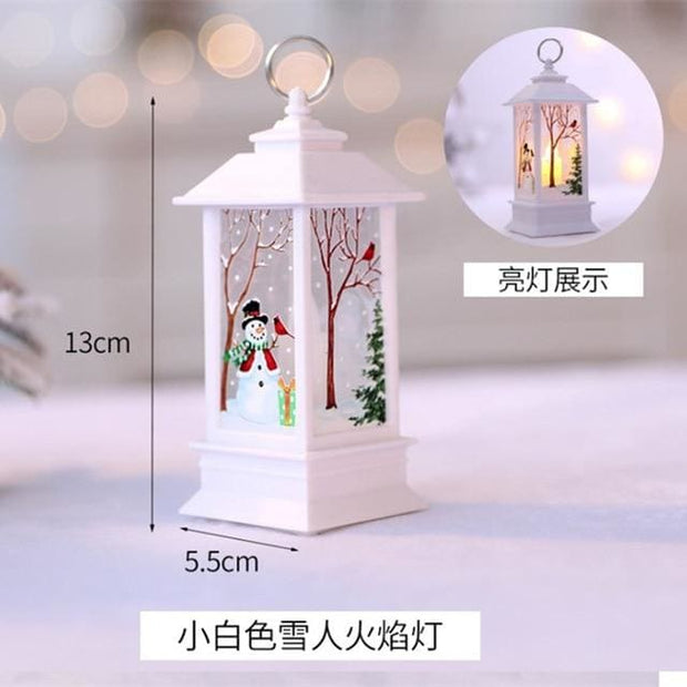 Christmas Candle LED Lantern - Red - Christmas