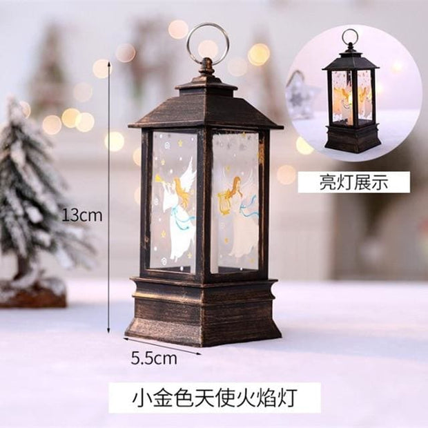 Christmas Candle LED Lantern - Silver - Christmas