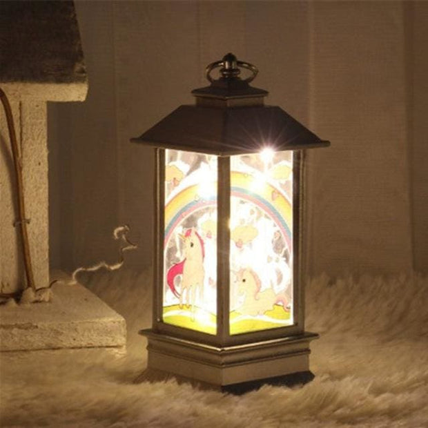 Christmas Candle LED Lantern - unicorn - Christmas