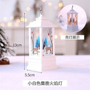 Christmas Candle LED Lantern - White - Christmas
