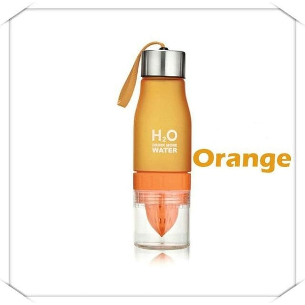Fruit Infuser Water Bottle - 0.65L / Orange - Cool Gadgets