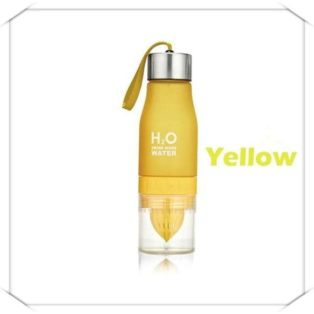 Fruit Infuser Water Bottle - 0.65L / Yellow - Cool Gadgets