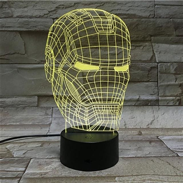 Iron Man Multicolour LED 3D Lamp - 1 / TOUCH 7 COLORS SET - Christmas