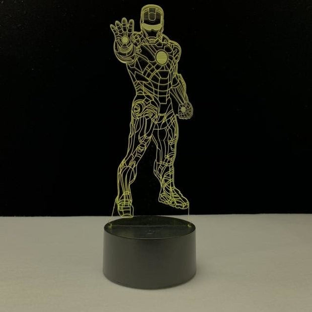 Iron Man Multicolour LED 3D Lamp - 4 / TOUCH 7 COLORS SET - Christmas