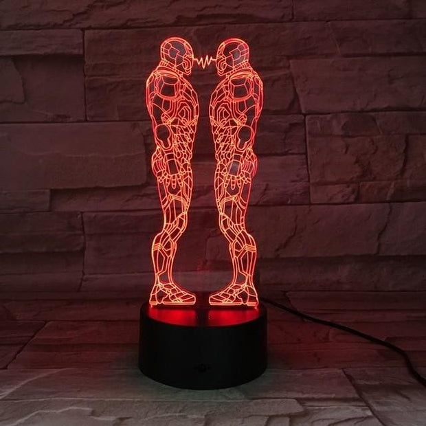 Iron Man Multicolour LED 3D Lamp - 7 / TOUCH 7 COLORS SET - Christmas