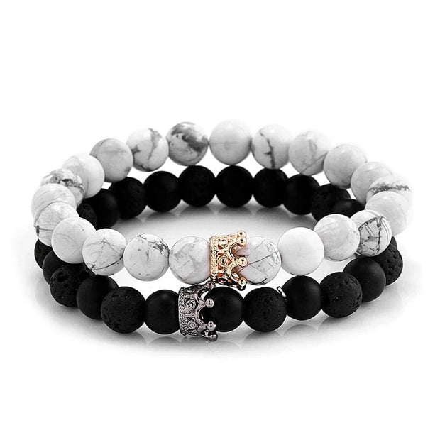 King and Queen Bracelet Set