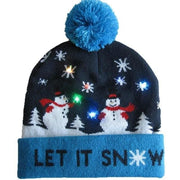 Light Up Christmas Beanie - 02 - Christmas