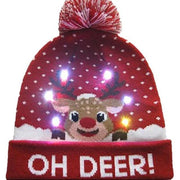 Light Up Christmas Beanie - 04 - Christmas