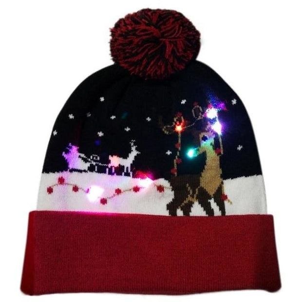 Light Up Christmas Beanie - 07 - Christmas