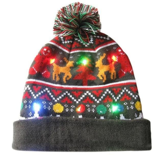 Light Up Christmas Beanie - 08 - Christmas