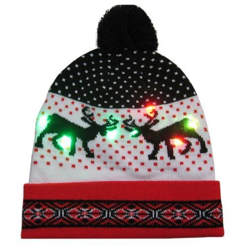Light Up Christmas Beanie - 09 - Christmas