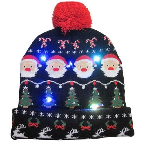 Light Up Christmas Beanie - 10 - Christmas