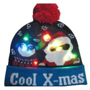Light Up Christmas Beanie - 13 - Christmas