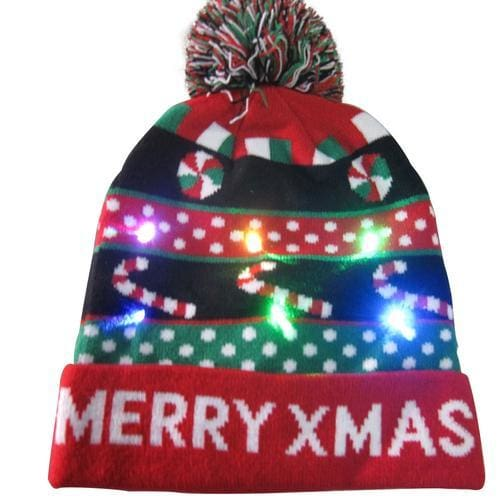 Light Up Christmas Beanie - 14 - Christmas