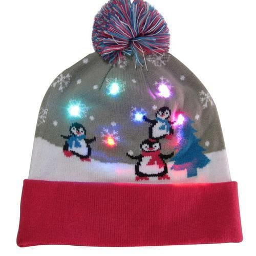 Light Up Christmas Beanie - 15 - Christmas
