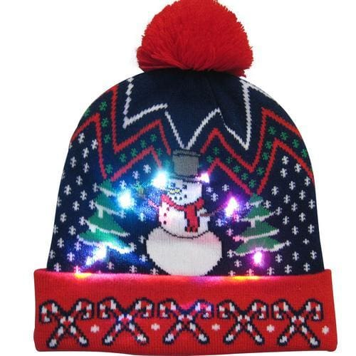 Light Up Christmas Beanie - 16 - Christmas