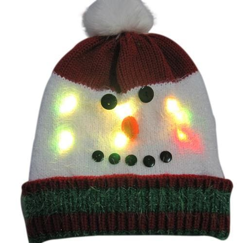 Light Up Christmas Beanie - 17 - Christmas