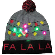 Light Up Christmas Beanie - 18 - Christmas