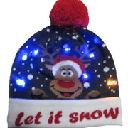 Light Up Christmas Beanie - 19 - Christmas