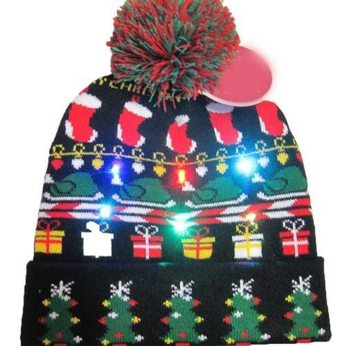 Light Up Christmas Beanie - 20 - Christmas