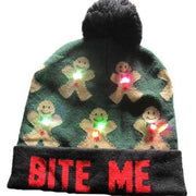 Light Up Christmas Beanie - 21 - Christmas