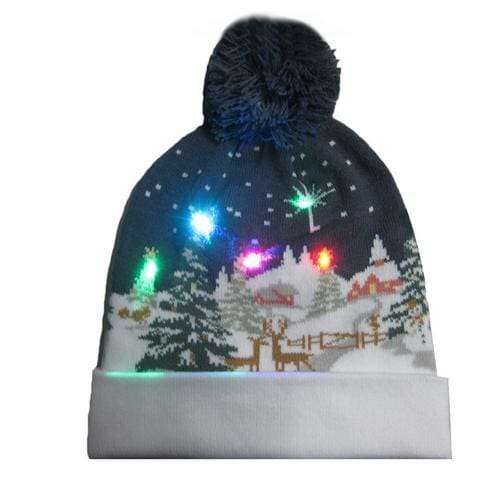 Light Up Christmas Beanie - 22 - Christmas