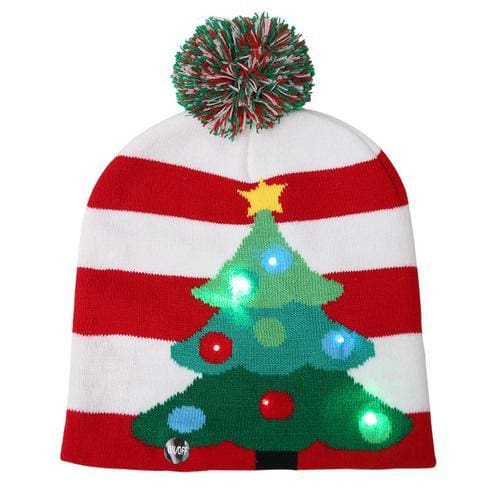 Light Up Christmas Beanie - 23 - Christmas