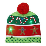 Light Up Christmas Beanie - 24 - Christmas