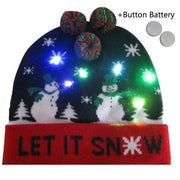 Light Up Christmas Beanie - 27 - Christmas
