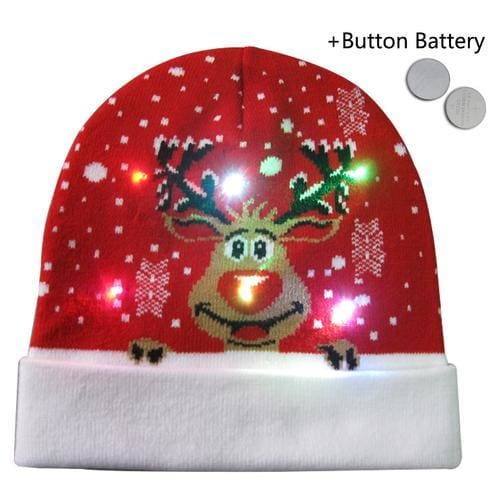 Light Up Christmas Beanie - 28 - Christmas