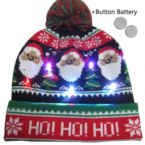Light Up Christmas Beanie - 29 - Christmas
