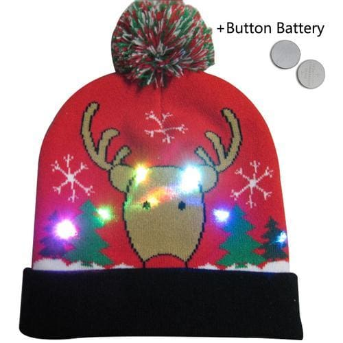 Light Up Christmas Beanie - 30 - Christmas