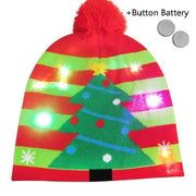 Light Up Christmas Beanie - 32 - Christmas