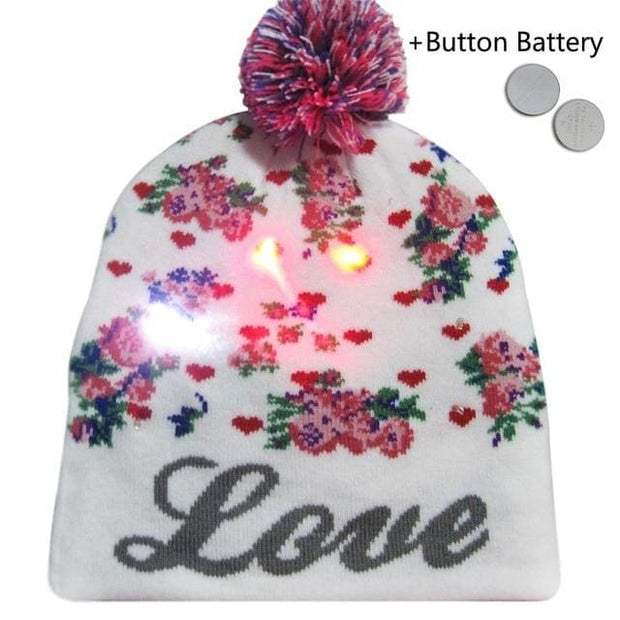 Light Up Christmas Beanie - 33 - Christmas