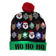 Light Up Christmas Beanie - 34 - Christmas