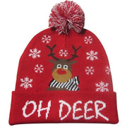 Light Up Christmas Beanie - 35 - Christmas