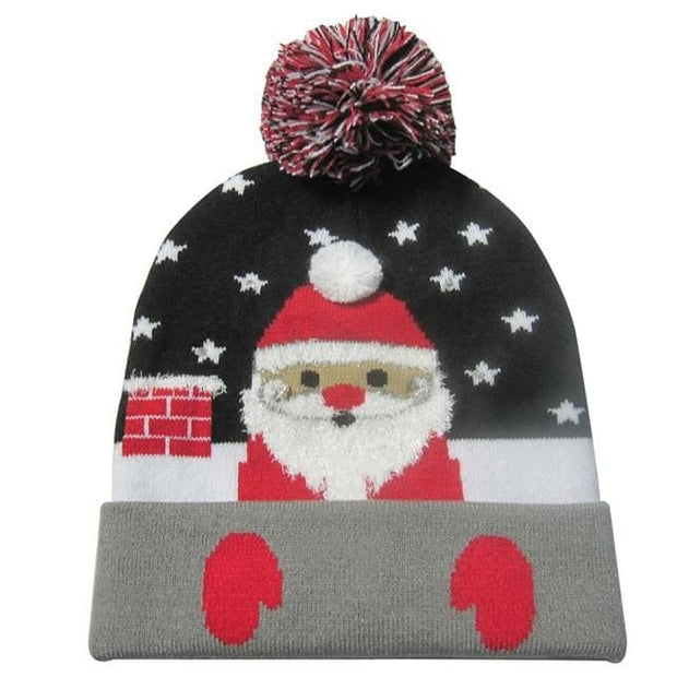 Light Up Christmas Beanie - 37 - Christmas