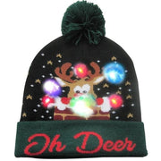 Light Up Christmas Beanie - 38 - Christmas