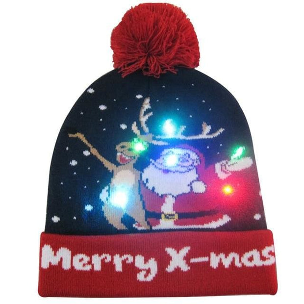 Light Up Christmas Beanie - 39 - Christmas