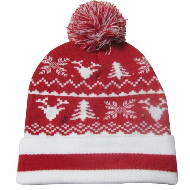 Light Up Christmas Beanie - 40 - Christmas