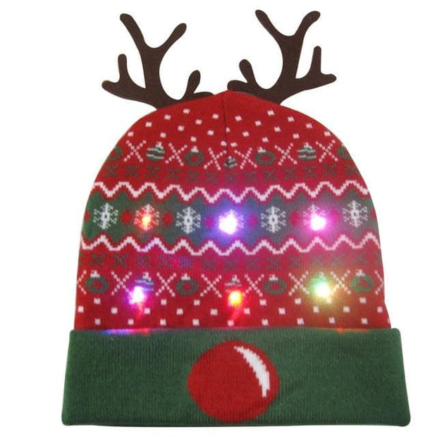 Light Up Christmas Beanie - 43 - Christmas