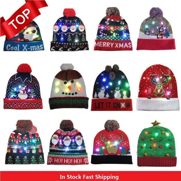 Light Up Christmas Beanie - Christmas