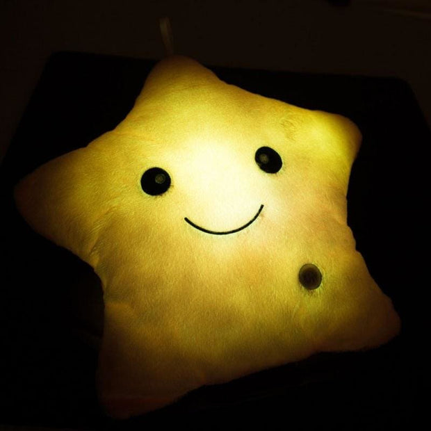 Light Up LED Star Cushions - Christmas