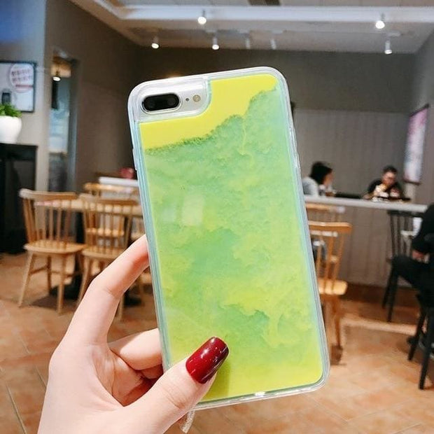 Luminous Glow In The Dark Quicksand iPhone Case - for iPhone 6 / yellow - Fashion & Accessories