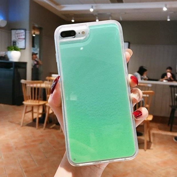 Luminous Glow In The Dark Quicksand iPhone Case - for iPhone X / green - Fashion & Accessories