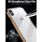 Magnetic Adsorption Tempered Glass Case For iPhone - Cool Gadgets