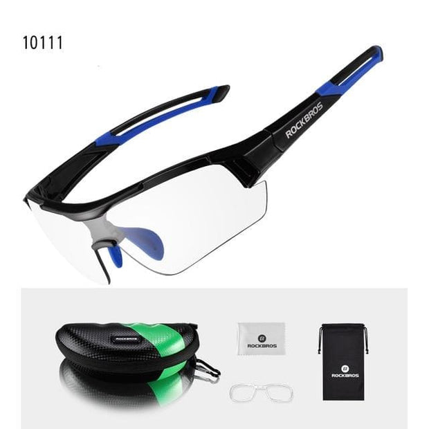Photochromatic Polarized Cycling/ Sun Glasses - Blue - Fashion & Accessories