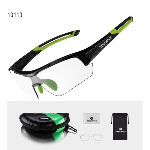 Photochromatic Polarized Cycling/ Sun Glasses - Green - Fashion & Accessories