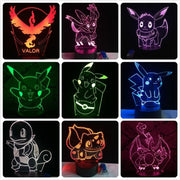 Pokemon 3D LED Night Light - Christmas