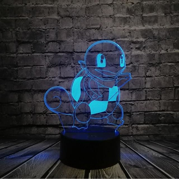 Pokemon 3D LED Night Light - Style 2 / Touch One 7 Color - Christmas